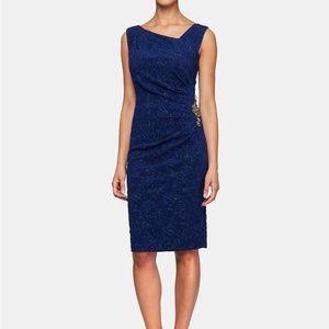 Alex Evenings Embellished Jacquard Glitter Dress